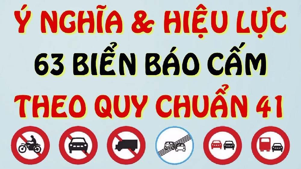 Các loại biển báo giao thông tại Việt Nam